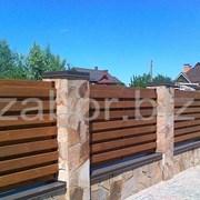 Деревянный забор Киев Купить забор из дерева фото