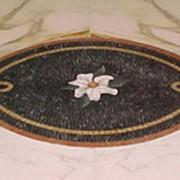 Панно мраморное (гидрорезка) фото