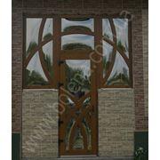 Двери элитные с декоративными термопанелями и дутым стеклом фото