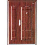 Двери входные двойные из сосны от производителя. фото