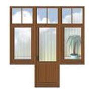 Балконные двери дерево Чернигов фото