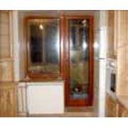 Балконные двери из натуральной древесины заказать в Житомирской области. Двери. Окна двери перегородки фото