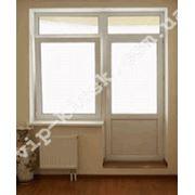Балконные блоки металлопластиковые - балконная дверь с окном фото