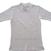 Водолазка для девочек Кулирная гладь с лайкрой бледно-розовая фото