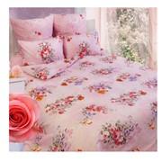 Комплект постельного белья Сова и Жаворонок Розы, 1,5 спальное фото
