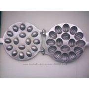 Форма для выпечки орешков с начинкой 16 половинок. фото