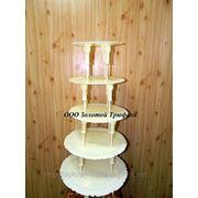 Подставка для торта (на 6 ярусов) d30 см, d27,5 см, d24 см, d21 см, d17 см фото