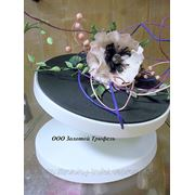 Подставка для торта вращающаяся (2 положения прямая + наклон) d23 см h14,5 фото