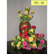 Цветы искусственные Гвоздика маленькая 7 голов,30 см. фото