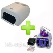 Индукционная ультрафиолетовая лампа 36 w + Фрезер 30000 об/мин фото