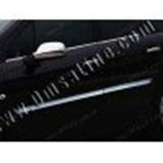 Молдинги дверей Peugeot 407 04-11 4шт нерж фото