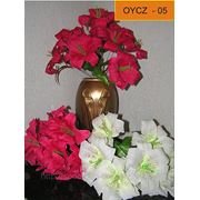 Цветы искусственные Лилия цветная 9 голов 37 см фото