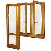 Производим окна деревянные из трехслойного клеенного бруса сосны. фото