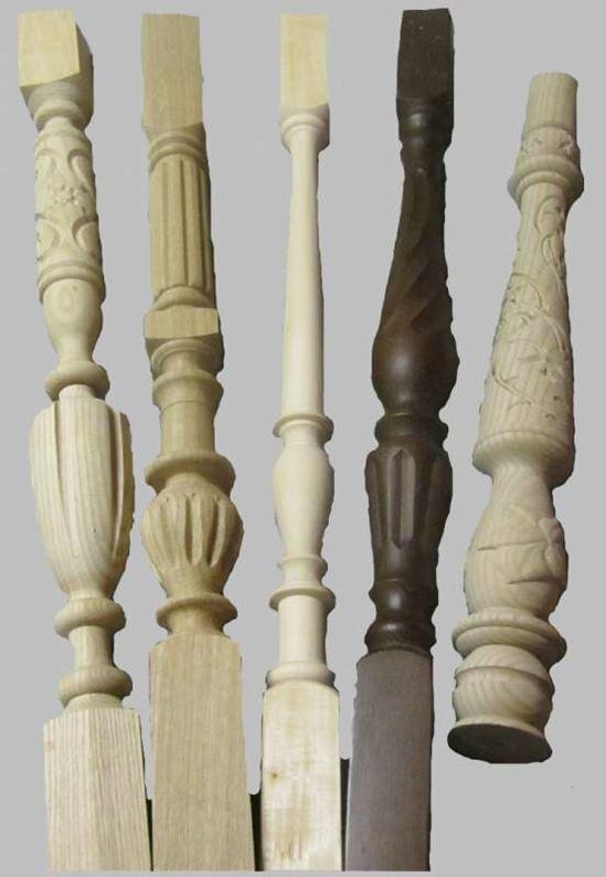 Балясины для лестниц из дуба, из ясеня, из дерева в интерьере