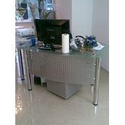 Офисный стол из стекла арт.05 фото