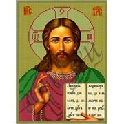 Схема для вышивки бисером Христос Спаситель КМИ 4002 фото