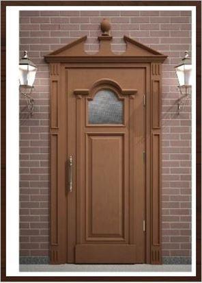 Входные деревянные двери для кваритиры из массива сосны