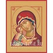 Храм Покрова Богородицы Игоревская, икона Богородицы на сусальном золоте (гладкий МДФ 6 мм без ковчега) Высота иконы 10 см фото