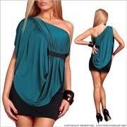 UTCG Двухцветное платье с оригинальной спинкой 144014 фото