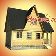 Дом из бруса 6,0 х 8,0 м фото