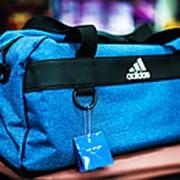 2794f387d9e0 Спортивная дорожная сумка ADIDAS среднего размера 46х20х25см голубая фото