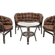 Комплект плетеной мебели Багама кофе фото