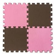 Мягкий пол из пазлов Розово-коричневый 1кв.м, 16 деталей 25x25 (Экополимеры) фото