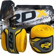 Бинты боксерские RDX Fibra Yellow 4.5m фото