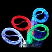 Кабель USB LED светящийся для Android фото