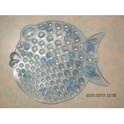 Рыбка ОРТО полуцвет бирюза. Миниковрики в ванную оптом фото