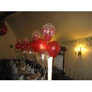 Украшение воздушными шарами зала на день рождения