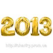 """Надпись из воздушных фольгированных шаров цифр """"2013"""". фото"""