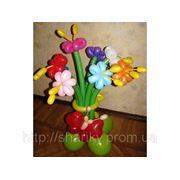 Цветы из шариков. фото