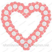 Сердце из шаров фото