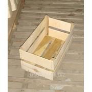 Ящик деревянный проволокосшивной из шпона. фото