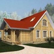 Дом из оцилиндрованного бревна ЛД-05 фото