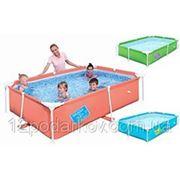 Детский каркасный прямоугольный детский бассейн 56220, BestWay, (239х150х58см.) фото