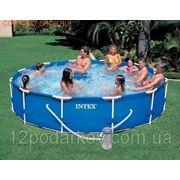 Intex 54424 каркасный бассейн, 366 см х 98 см. + насос + лестница фото