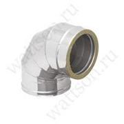 Дымоходы ROSINOX Отвод 180/90° (кислотостойкая/0,5/ВА) ТЕРМО/25 фото