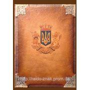 Папка Украина (кожа) фото