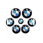 Набор эмблем BMW под карбон фото