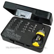 Отвертка укороченная Stanley 0-69-192 укороченная FatMax Xtreme Multibit Stubby с храповым механизмом в комплекте с 15-тью вставками фото