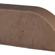 Кирпич радиусный Lode Brunis F17 гладкий, 250*120*65 мм фото