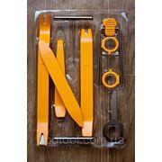 Комплект пластиковых клиньев и ключей для разборки салона панели торпеды авто фото