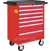 Тележка инструментальная 7 полок, пласт. столешница, красная AWX-2603BTS-R фото