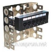 Патч-панель неэкранированная, монтаж на скобу, 6 портов Кат.5е, 110 Type IDC, цвет черный, 175920632 фото