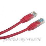 Патч-корд литой красный UTP, RJ45 1m, кат. 5Е, NETS-PC-UTP-1M-RD фото