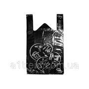 Пакет майка чорний великий 45х70 см