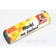 Мусорные пакеты Super BABA 60л/10шт/15мкн., пакеты для мусора цена фото