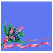 """Пакет с пластиковой ручкой """"Тюльпаны голубой (средний)"""""""